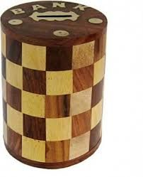 Wooden Money Bank 05