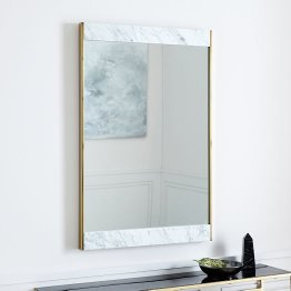 Brass Mirror with Marble