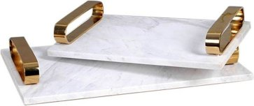 Brass Tray with Marble