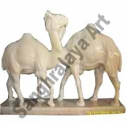 Camels In Pair Statue