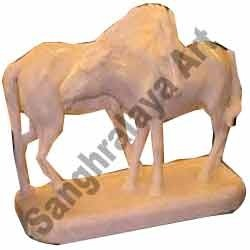 Horses In Opposite Direction Statue