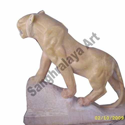 Yellow Stone Climbing Tiger Statue