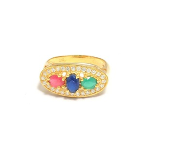 Beautiful Gold Plated Gemstone Ring