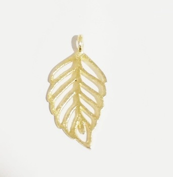 Brushed Gold Plated Charms Pendant