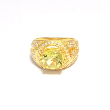 Citrine Gemstone Gold Plated Ring