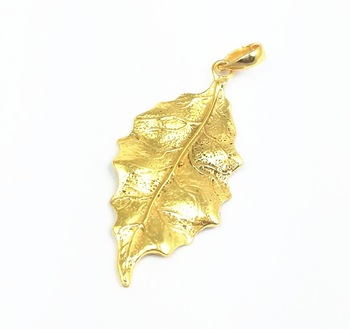 Gold Plated Fancy Leaf Charms