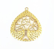 Gold Plated Tree Design Charms Pendant