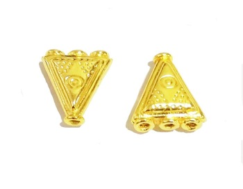 Gold Plated Triangle Shape Spacer Beads