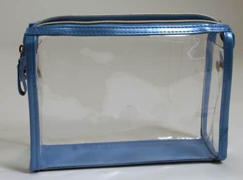 Blue PVC Zipper Bag