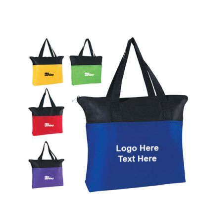 Multicolor Non Woven Zipper Bag