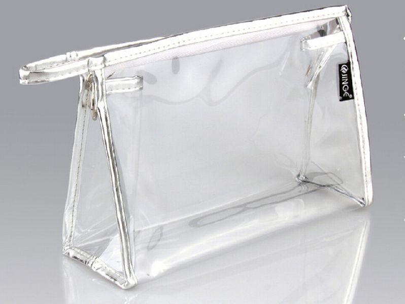Sliver PVC Zipper Bag