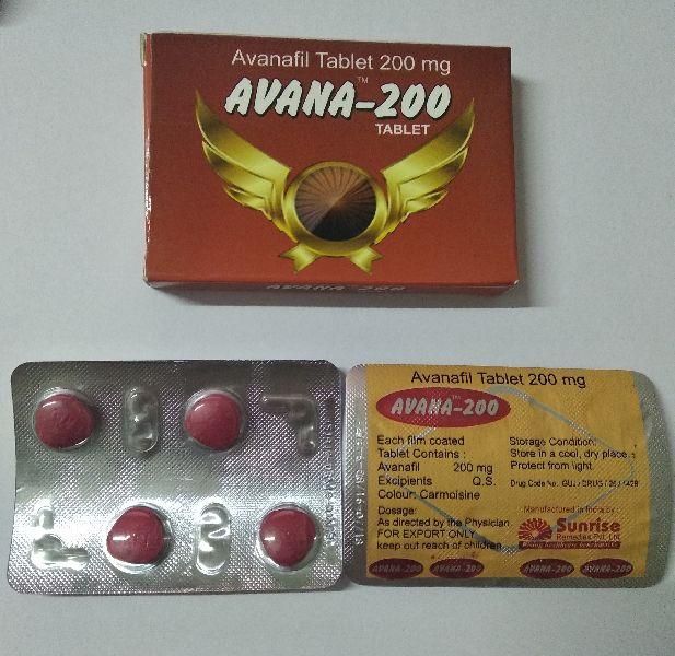 Avana 200 mg Tablet