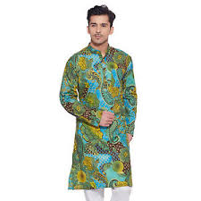 Mens Printed Kurta