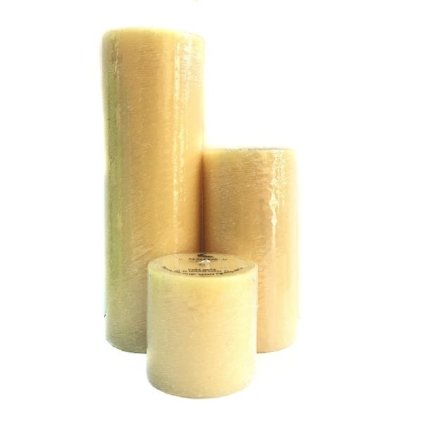 Scraped Pillar Candle