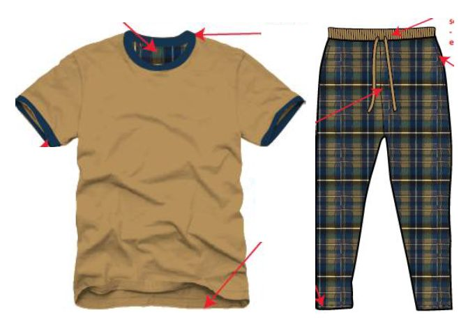 Mens T-Shirt and Pyjama Set 01
