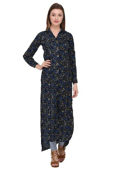 6c6500c11 Black Floral Printed Kurti Manufacturer Supplier in Surat India
