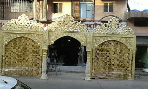 Jaali Designed Indian Traditional Wedding Entrance Gate