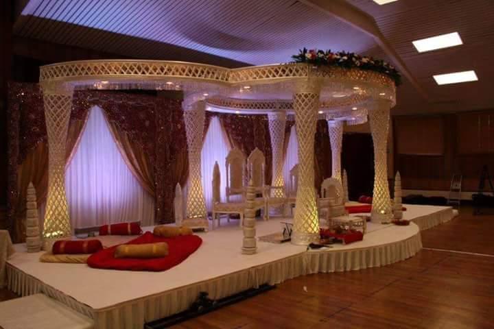 Jaali Style Wedding Fiber Mandap