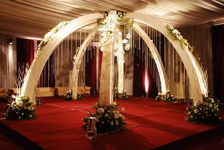 Umbrella Style Fiber Mandap for Wedding Decor