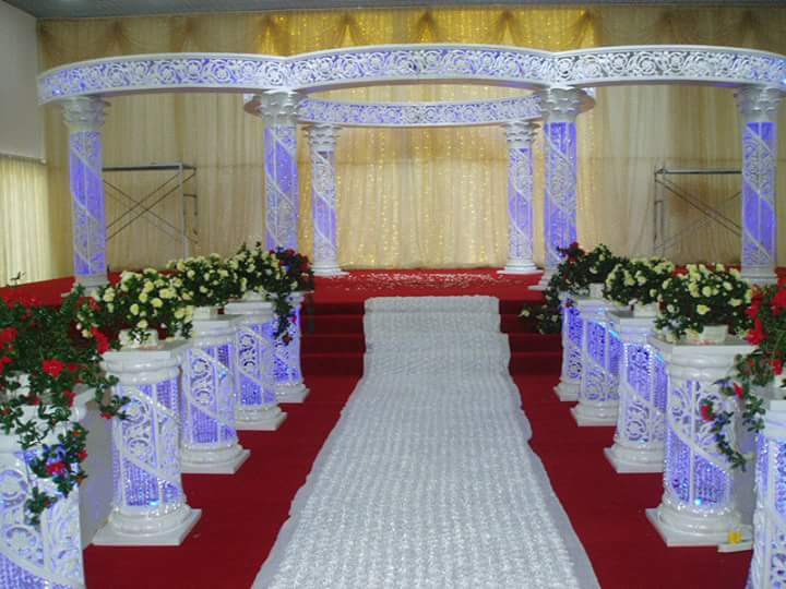 Decor White Round Mandap for Wedding Decor