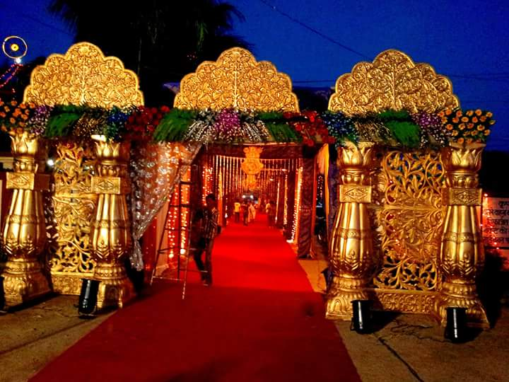 Antique South Indian Wedding Entrance Gate