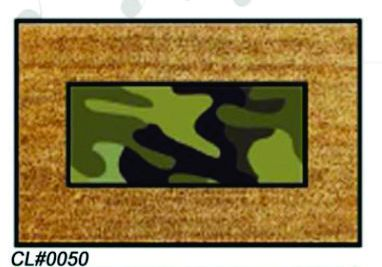 PVC Backed Army Print Coir Mats