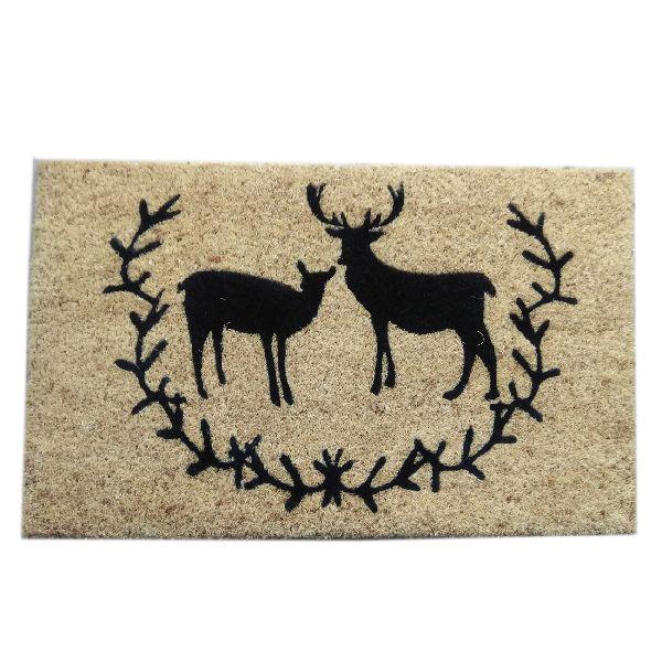 PVC Backed Deer Print Coir Mats
