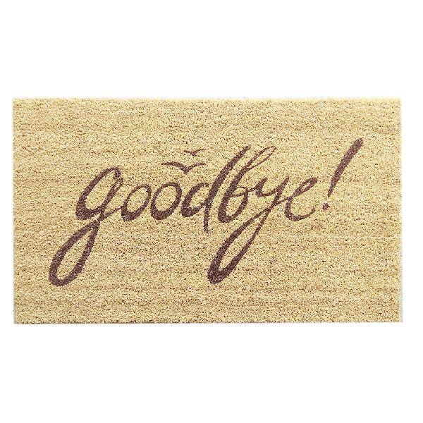 PVC Backed Goodbye Coir Mats