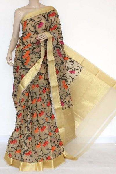 Kora Embroidered Sarees