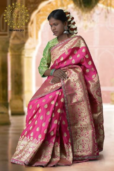 Satin Embroidered Sarees