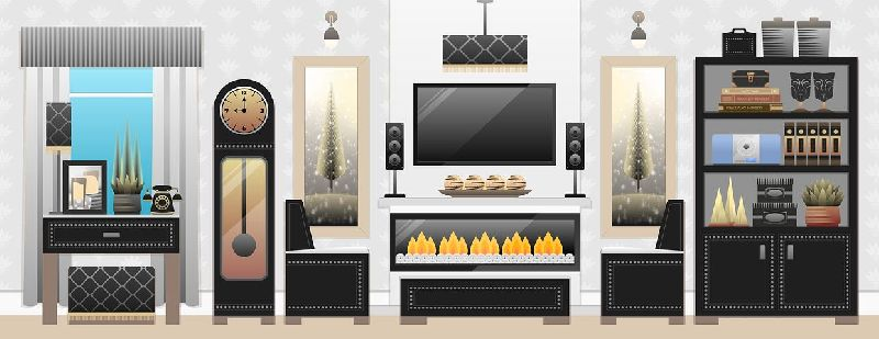 Living Room Interior Designing Service 03