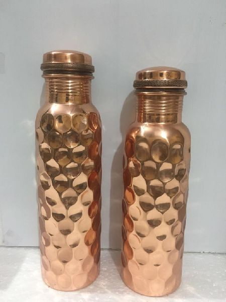 Hammered Copper Bottle Manufacturer Supplier In Delhi India