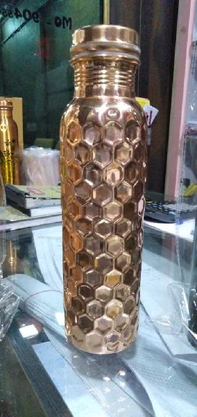 Hammered Diamond Copper Bottle