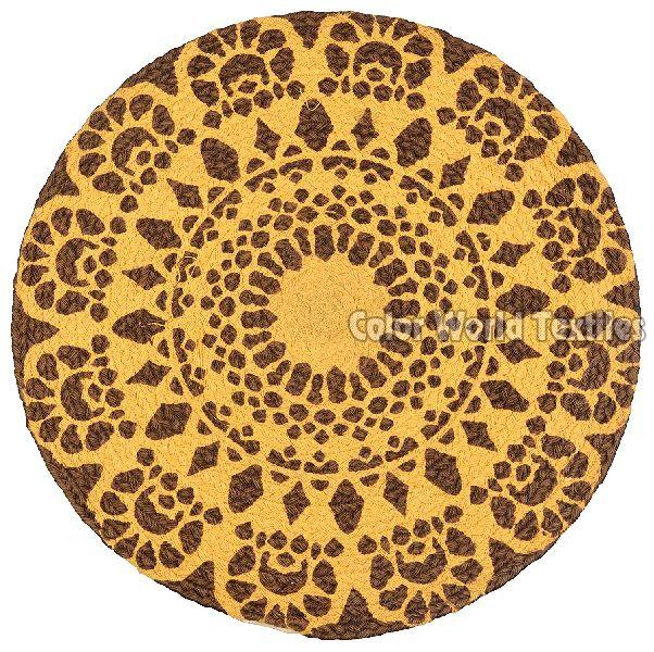 Cotton Tonal Braided Round Mat