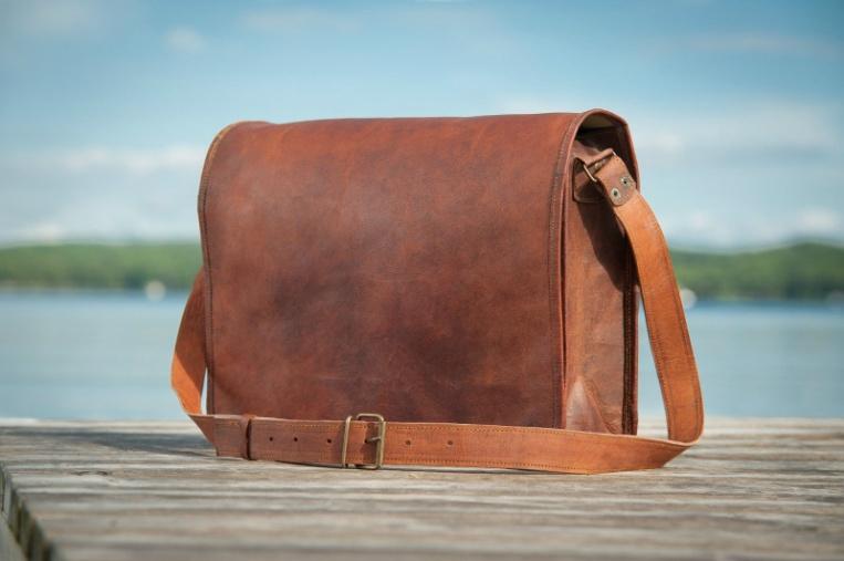 Handmade Leather Messenger Laptop Full Flap  Bag