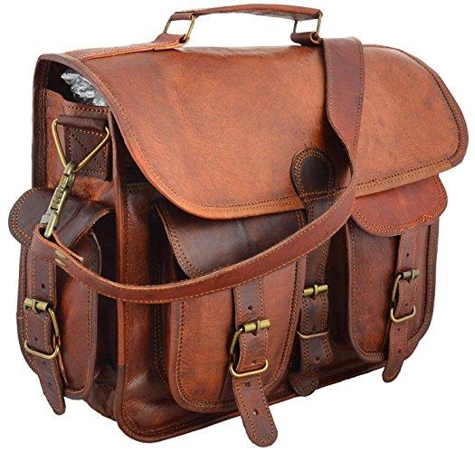 Handmade Leather Messenger Laptop Shoulder Briefcase  Bag