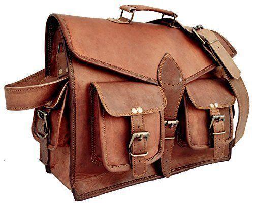 Handmade Leather Messenger Laptop Shoulder Briefcase Men's Bag
