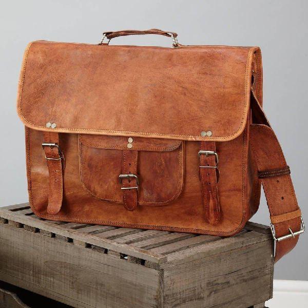Handmade Leather Messenger Laptop Shoulder Satchel  Bag