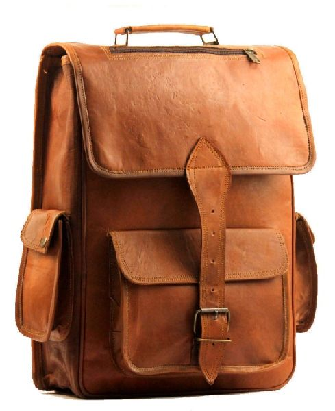 Handmade Leather Rucksack Backpack Bag