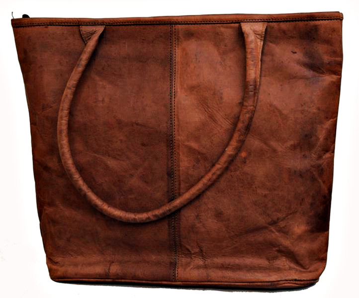 Handmade Leather Shoulder Toe HandBag For Women