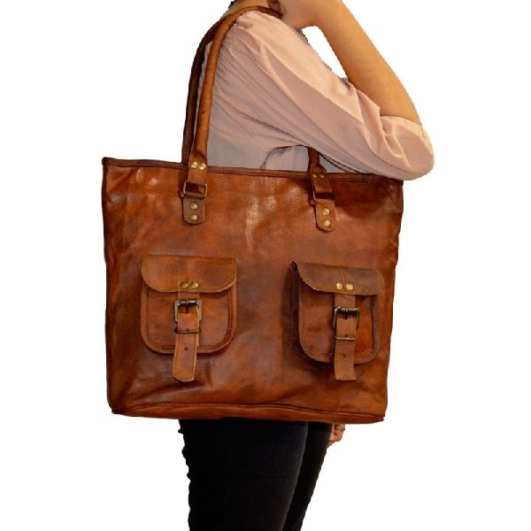 Handmade Leather Sling GypsyTote Shoulder Handbag For Women