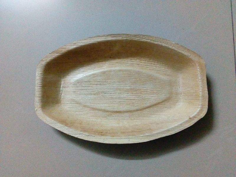 13 x 8 Inches Areca Leaf Oval Tray