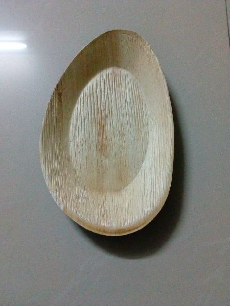 9 x 6 Inches Areca Leaf Oval Tray