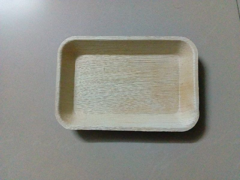Areca Leaf Rectangle Tray