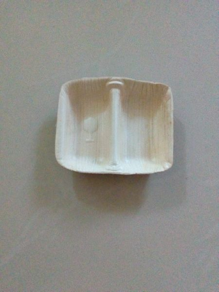 Areca Leaf Two Partition Bowl