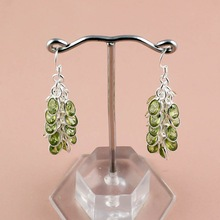 Faceted Peridot Gemstone Earrings