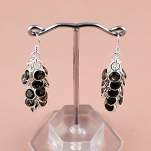 Faceted Smoky Gemstone earring