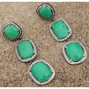 Green Emerald Earring
