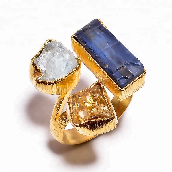 Kyanite Citrine ring