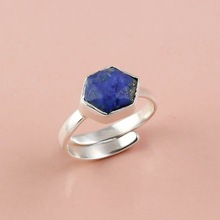 Lapis Gemstone Silver Ring